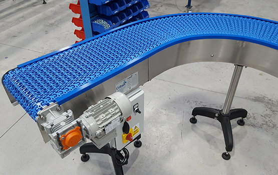 Curved Modular Chain Conveyors